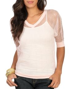Sheer Lurex Sweatshirt from WetSeal.com