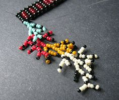 Basic  Fringe (coraling) - tute and examples. #Seed #Bead #Tutorials