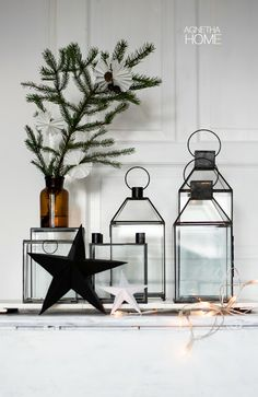 merry x-mas, jul, christmas, glass lanternes, boxes, candle holder #agnethahome