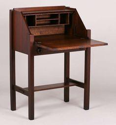 arts crafts secretary desk decorative arts pinterest mobilier de salon mobilier et ebeniste. Black Bedroom Furniture Sets. Home Design Ideas