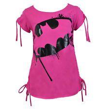 Officially Licensed DC Comics Batman 'Hero top' Ladies Top (Pink)
