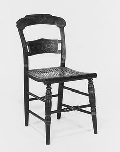 """Side Chair ca. 1825-28, by Lambert Hitchcock (1795-1852), the first """"some assembly required"""" chair"""