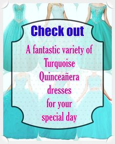 Turquoise Quinceanera dress- These professional tips from social occasions party planners will enable you to identify the right Turquoise Quinceanera dress in no time! Sweet Sixteen Dresses, Sweet 16 Dresses, Turquoise Quinceanera Dresses, Fantasy Party, Dream Party, Turquoise Dress, Looking For Women, True Colors, Beautiful Day