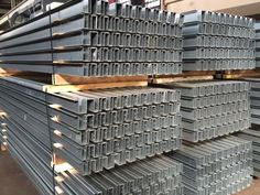 Long Galvanized Rails fabricated and formed by Steeltec Products in Cleveland Ohio.
