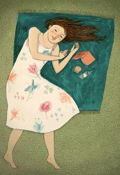 Lectora veraniega / Summer reading (ilustración de Lizzy Stewart)