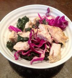 Roasted Turkey Breast & Kale/Red Cabbage Salad- for breakfast lunch or dinner!!   Food - Health, Happiness and Freedom...Nxo