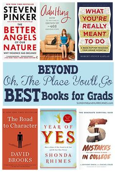 Be different and break out of the grad gift tried and true with these books that go beyond Oh, The Places You'll Go. Inspirational, Practical and Funny these are definitely the modern day best books for grads. Parenting Articles, Parenting Books, Parenting Teens, Books For Moms, Books For Teens, Good Books, Beauty Tips For Hair, Book Suggestions, Parent Resources