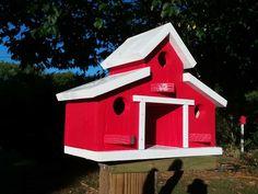 Barn birdhouse rustic barn bird house outdoor gifts for Dad Homemade Bird Houses, Bird Houses Diy, Outdoor Gifts, Outdoor Decor, Alaska, White Bird Tattoos, Bird House Plans, Rustic Barn, Barn Wood