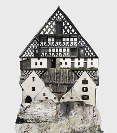 Коллажи из зданий Анастасии Савиновой (Интернет-журнал ETODAY)