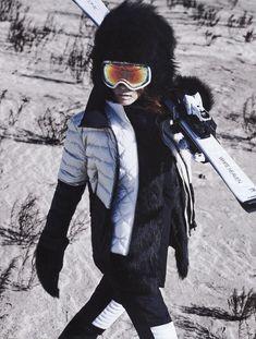 Vogue Korea, 2015 Hwang by Young Jun Kim Snow Fashion, Winter Fashion, Fashion Women, S Ki Photo, Sport Editorial, Ski Bunnies, Ski Posters, Ski Season, Ski Wear