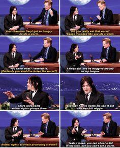 Sobre Daryl comer minhocas / About Daryl eat worms - Norman no Conan