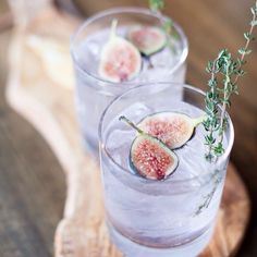 Now would be a good time for this fancy fig cocktail by @lindseybrunk