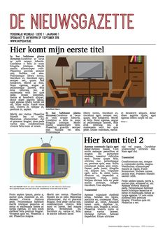 Online kranten maken met Happiedays - newspaper design, krantenlay-out