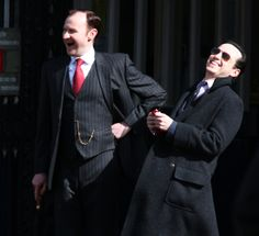 Mark Gatiss and Andrew Scott laughing at our pain