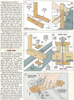 #2279 Wood Lathe Steady Rest Plans - Lathe