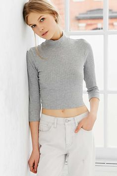 Silence + Noise Renee Mock-Neck Top | Urban Outfitters - $34