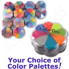 PETAL POINT ColorBox PIGMENT stamp pad 8-color ink set removeable inkpads rubber