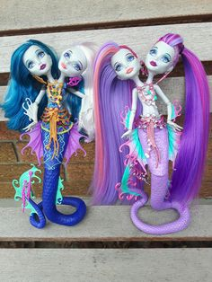 Ooak peri and Pearl from monster high by Sara Seibel