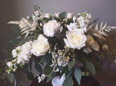 Rustic Barn White Wedding Centerpiece :: The Vines Flower & Garden Shop