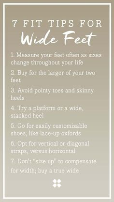 7 simple fit tips for wide feet                                                                                                                                                                                 More