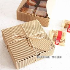 Items similar to 30 pcs corrugated Bakery Kraft Paper Box Jewel Gift Soap Box Paper Packaging Gift Box,Snacks, Party, Favor,Wedding Handmade food package on Etsy Packaging Carton, Cake Boxes Packaging, Biscuits Packaging, Bakery Packaging, Craft Packaging, Soap Packaging, Packaging Ideas, Corrugated Box, Soap Boxes