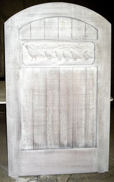 Redwood Gate with carving of Quail Family