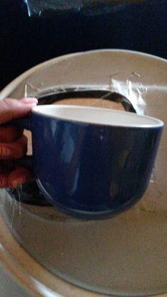 Exemplo 03 - Caneca para sopa, de porcelana.