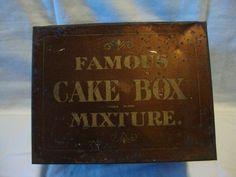 VINTAGE FAMOUS CAKE BOX MIXTURE TOBACCO TIN/BOX LARGE