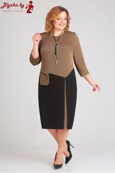 Платье женское AL-2398 Curvy Girl Fashion, Womens Fashion, Corporate Style, Old Shirts, Blouses For Women, Fashion Dresses, Plus Size, Skirts, Fabric