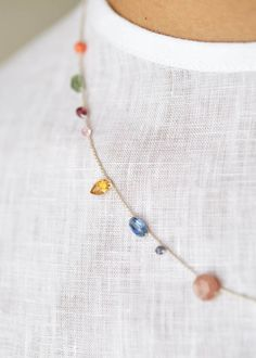 Handmade 14K Gold Filled Opal Multi Gemstone Floral Style Hoop Dangle Earrings  Spring Breeze Theme Earrings  Stunning Unique Gift