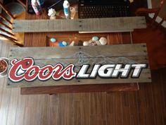 Coors Light pallet sign
