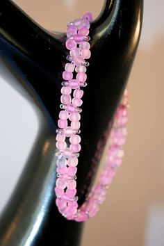 Pink Seed Bead Bracelet. Starting at $6 on Tophatter.com!