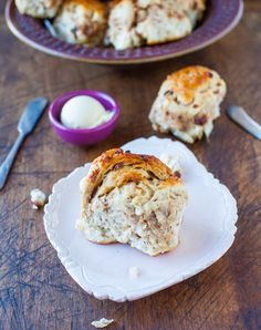 Oatmeal Raisin Rolls – Part healthy and hearty chewy dinner roll, part soft cinnamon roll. They're full of texture from the raisins and oats, lightly sweetened from honey in the dough and are then brushed with honey-butter prior to baking, and perfumed with cinnamon. They can be made in advance or frozen, if desired