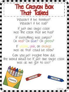 The Crayon Box That Talked Freebie Writing Papers