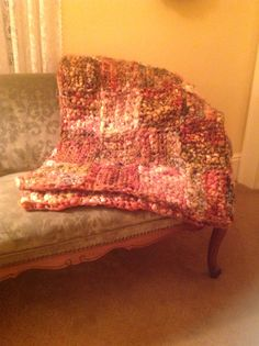 crocheted blanket from yarn collected at sheep and wool festival in rhinebeck ny