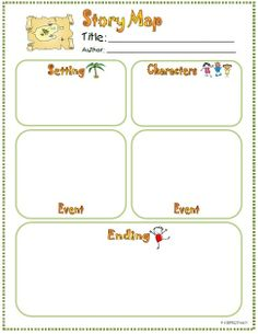 *Freebie* Story Elements Organizers (Setting, Characters, Events, Problem/Solution)