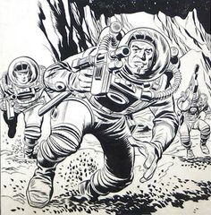 Jack Kirby Space Busters Concept Art Surfaces