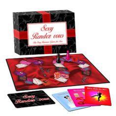 JUEGO EROTIO PAREJAS SEXY RENDEZ VOUS Es un juego romántico para dos.  Flirtea, besa, masajea y disfruta de los juegos previos que el juguetón tablero os propondrá.  Gana tarjetas Sexy Rendez vous a medida que vas avanzando. Cada tarjeta contiene un encuentro lleno de sensualidad y sexualidad a la vez que es absolutamente creativo, aventurero o erótico.  El ganador puede elegir el sexy Rendez Vous a llevar a cabo.