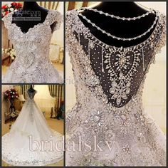 Wholesale Sweetheart Cap sleeves A-Line Appliques Luxury Chapel Train Wedding Dresses Bridal Gowns J-360, Free shipping, $469.0/Piece | DHgate