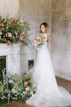A rustic bridal editorial and elegant bride inspiration with warm, whimsical florals throughout.  #pinkweddingdetails #whimsicalbride #elegantbridalinspiration #bridalinspiration #minimalistbride