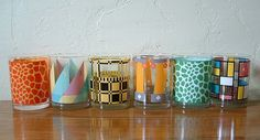 I love the way the mismatched glasses look together!  Glass ware - One more gorgeous than the other! georges briard