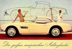 Looking for the BMW 507 of your dreams? There are currently 7 BMW 507 cars as well as thousands of other iconic classic and collectors cars for sale on Classic Driver. Maserati, Bugatti, Audi, Porsche, Bmw Classic Cars, Classic Sports Cars, Classic Auto, Bmw 507 Roadster, Jaguar