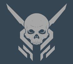 "Multi-Purpose fireteam insignia ""AJAX"" / 343 / Halo Franchise, Eric Will on ArtStation at https://www.artstation.com/artwork/Bwmz9"