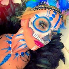 Tribal Voodoo Witch Doctor Festival Make Up Look