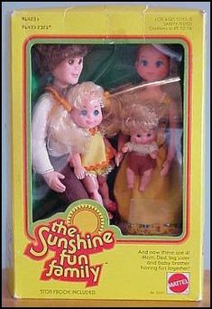 If I had all of the Sunshine family dolls that I received for Christmas that would be some large family...