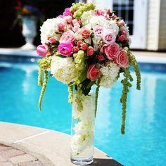 Summer Pool Party Flower Arrangement by Fleuriste Le Bouquet www.lebouquet.com