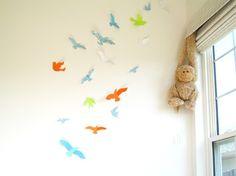 3-D birds if a boy