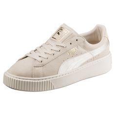 cbea96420f Basket Suede Platform Satin pour femme Chaussures Ado Fille, Chaussures  Rentrée, Chaussures De Basket