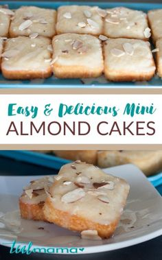 Easy and Delicious Mini Almond Cakes. This is a mini version of a delicious Norwegian almond cake, one of our family recipe favorites. With the delicious almond flavor and crunchy, textured edges this cake is always a hit! - Pair with cherry wine! Almond Recipes, Baking Recipes, Cake Recipes, Dessert Recipes, Recipes Dinner, Vegan Recipes, Whole30 Recipes, Appetizer Recipes, Dinner Ideas