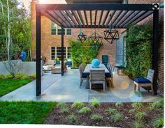concrete deck with awning